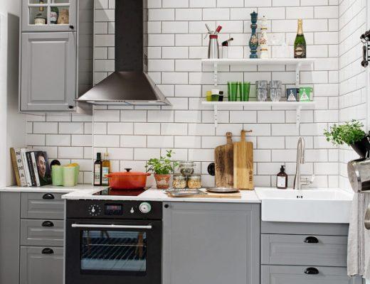 scandinavische keuken witte tegels
