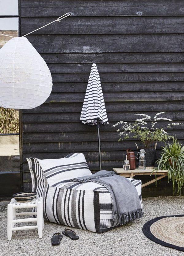 scandinavische lampionnen tuin