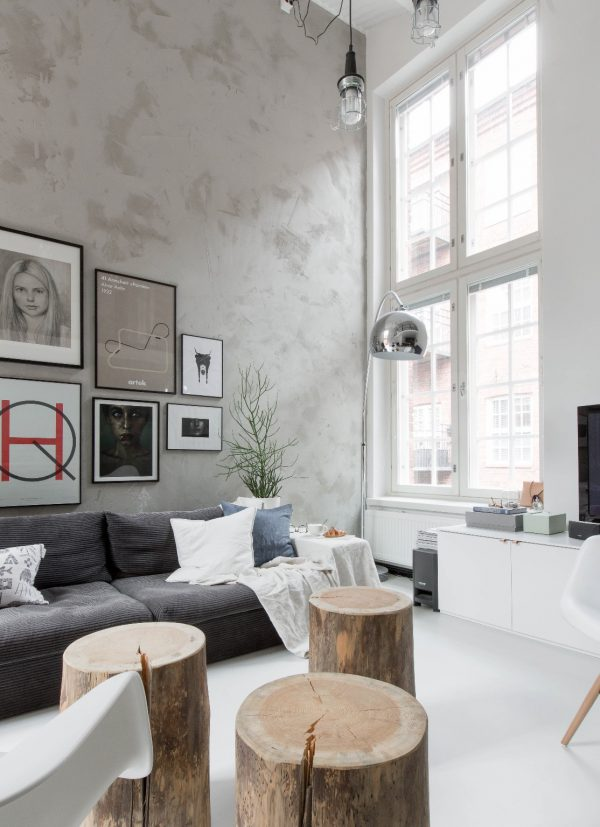scandinavische loft woonkamer