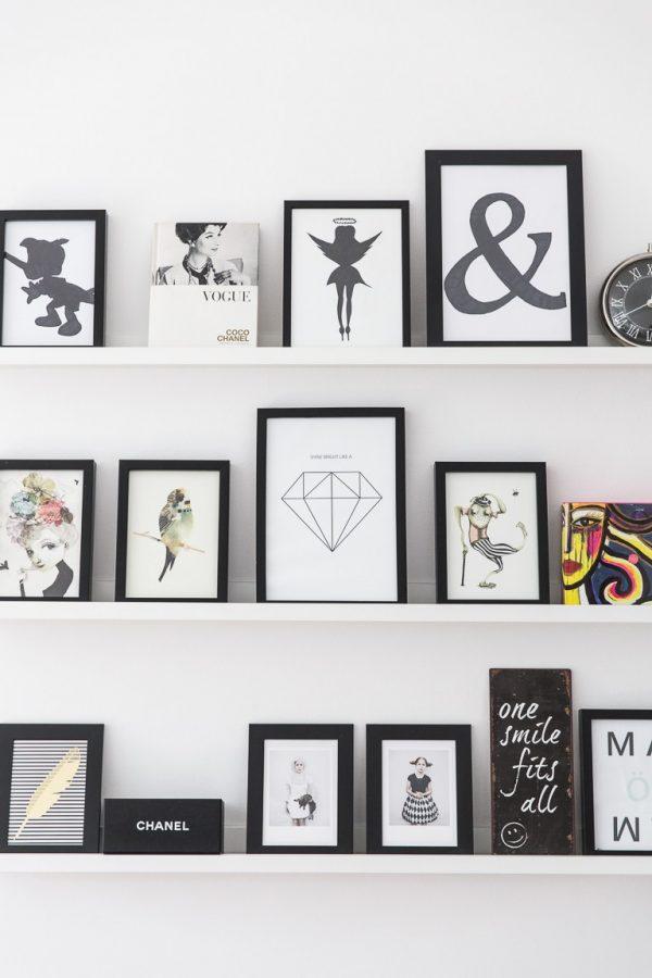 schilderijlijstjes zwart-wit