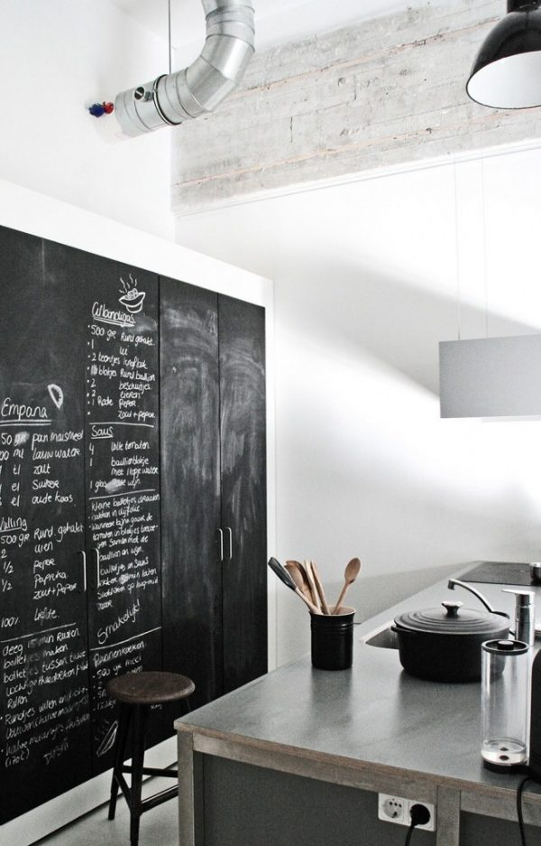 schoolbord verf keuken