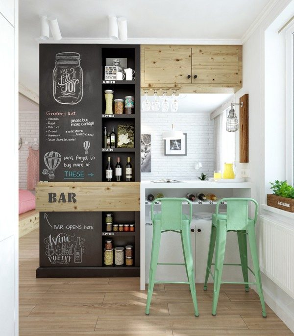 Schoolbordverf in de keuken thestylebox - Verf keuken lichtgrijs ...