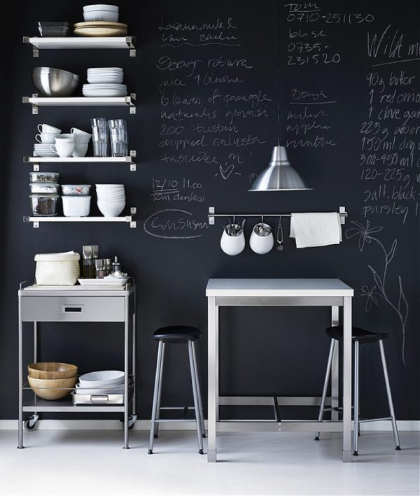 Keuken Verf Ideeën : Schoolbordverf in de keuken thestylebox