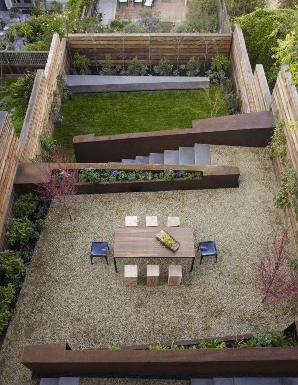 schutting ideeën verdiepingen in de tuin