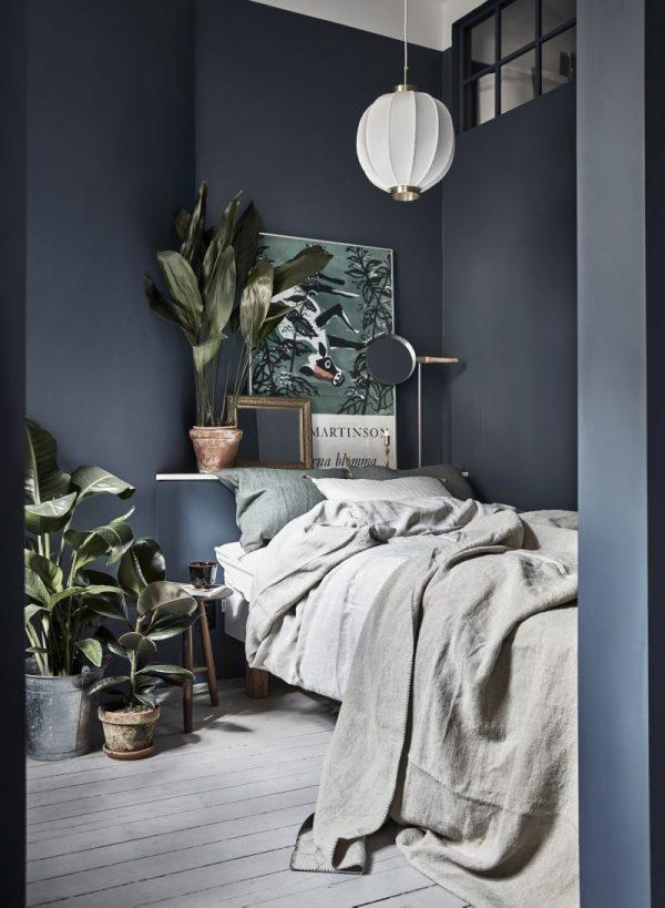 slaapkamer blauw