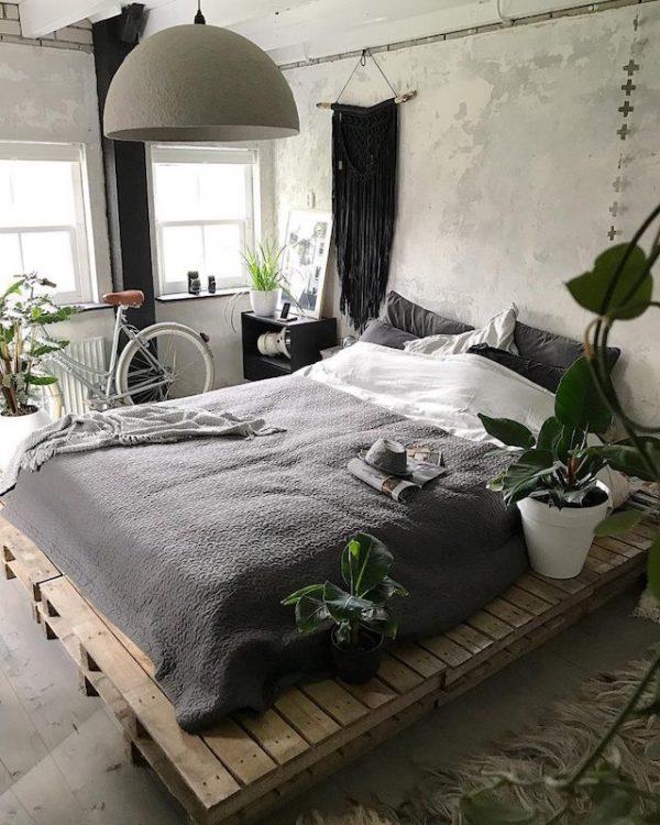 slaapkamer ideeën pallets