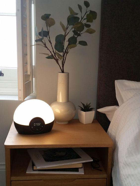 slaapkamer ideeën wake-up light