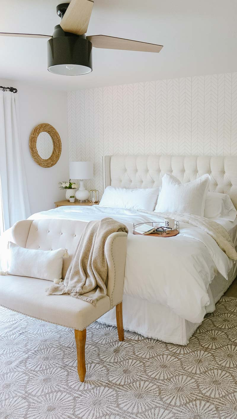 Slaapkamer makeover van Beth