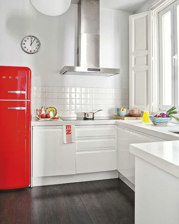 smeg koelkast in de keuken