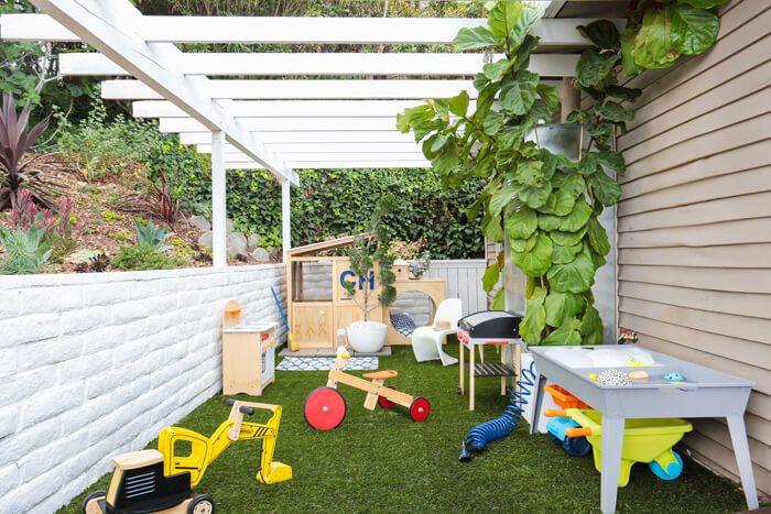 Speelhoek in tuin