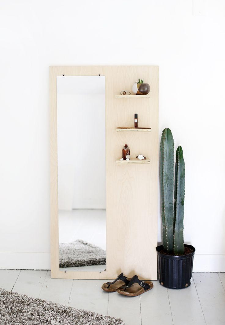 DIY spiegel underlayment slaapkamer