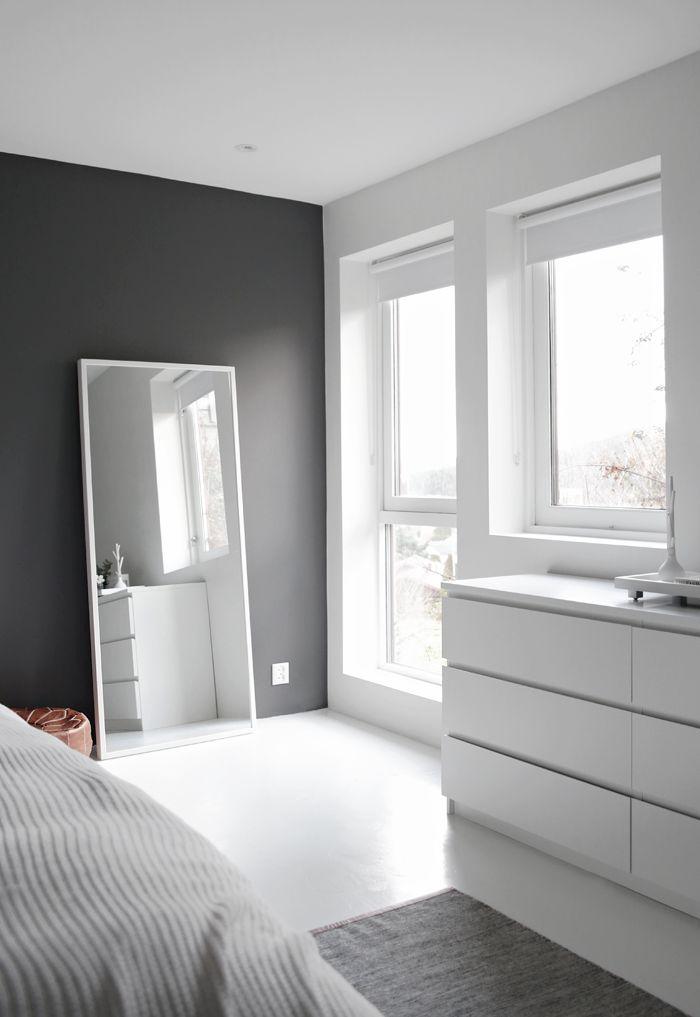 spiegel zwart wit slaapkamer