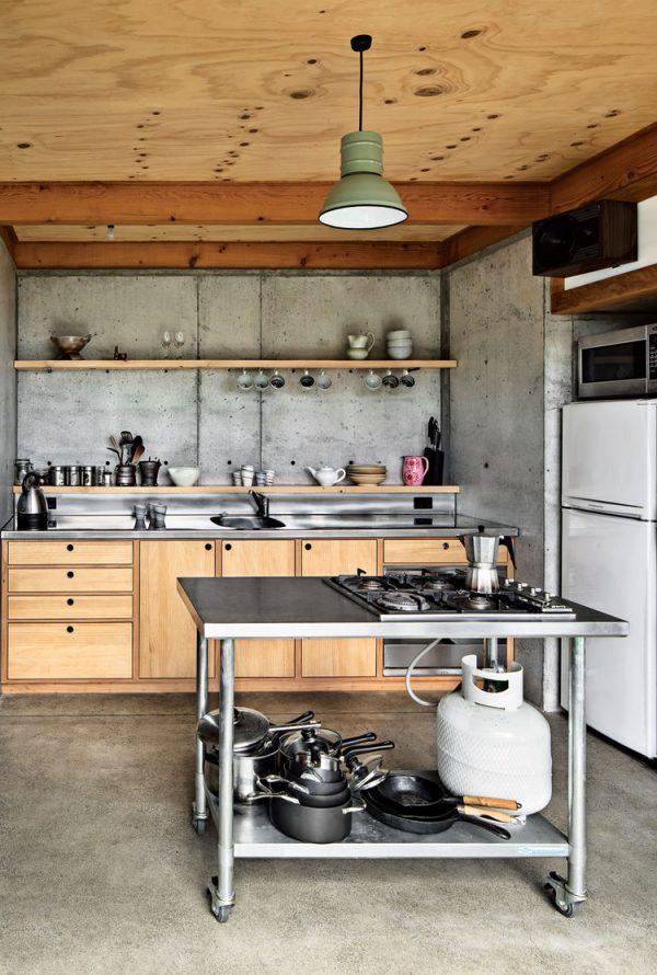 staal hout keuken