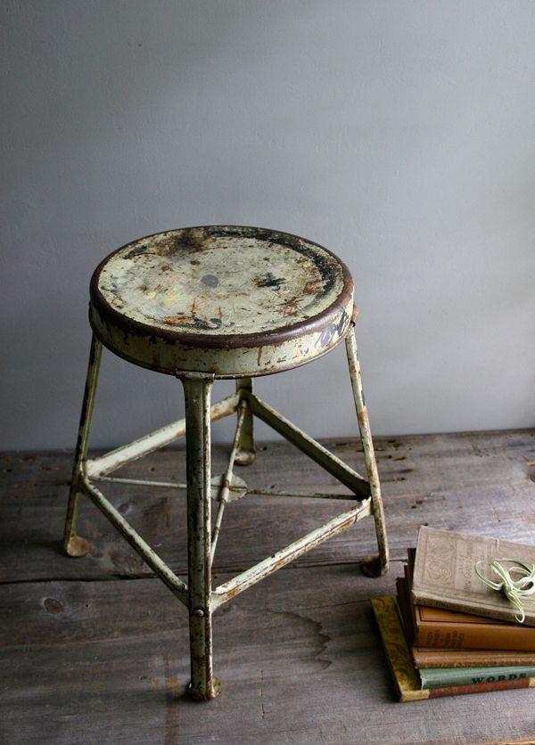 stalen krukje vintage