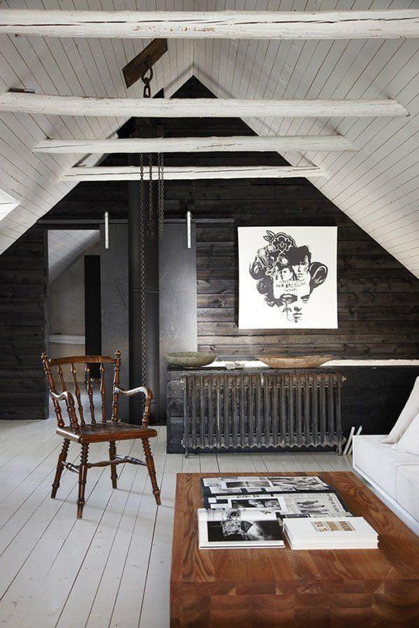 steigerhouten muur woonkamer