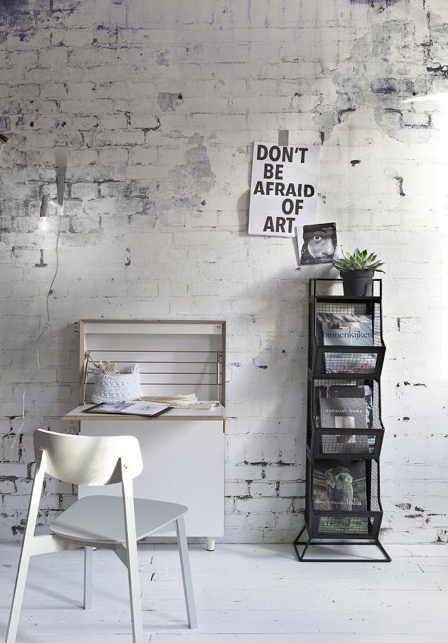 Stenen muur slaapkamer - THESTYLEBOX