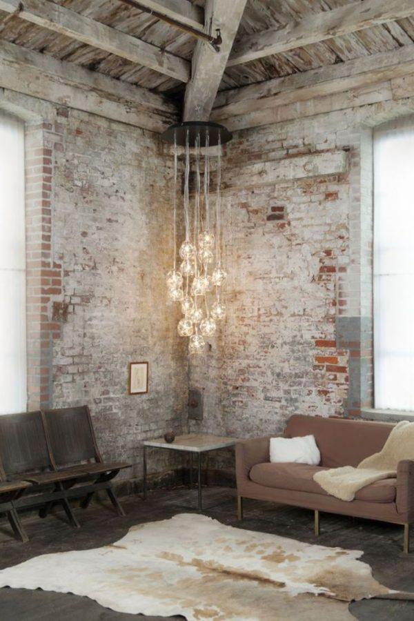 Stenen muur interieur thestylebox - Interieur muur ...