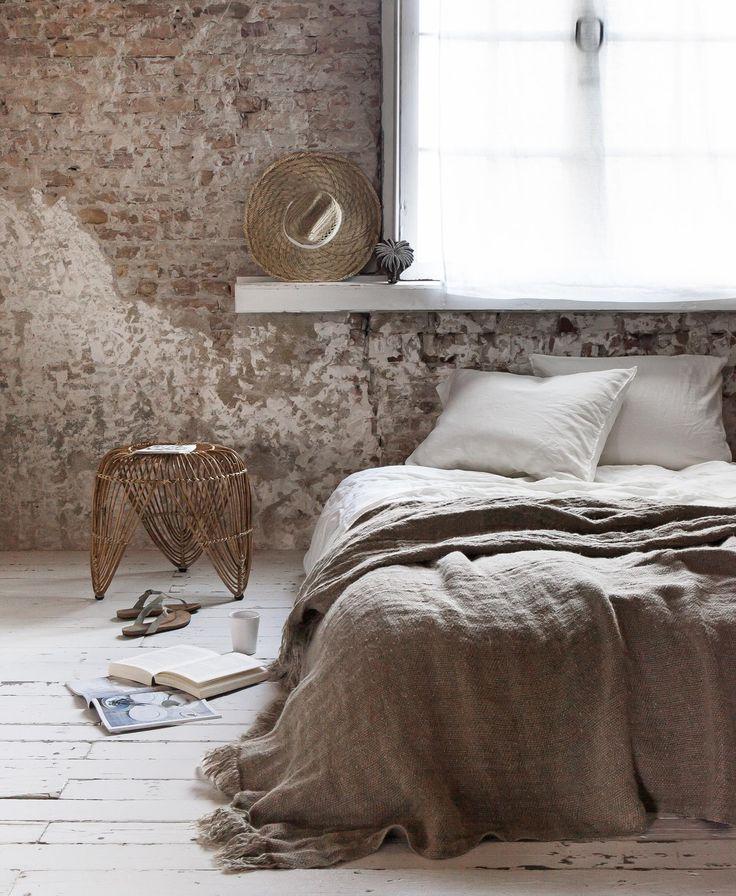stenen muur slaapkamer - thestylebox, Deco ideeën
