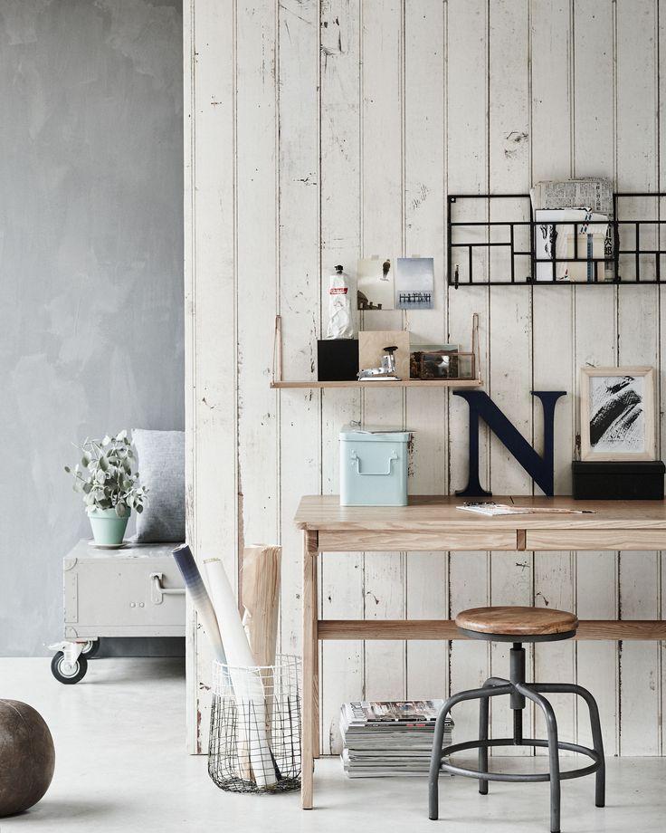Werkplek in de woonkamer thestylebox for Kantoor in woonkamer