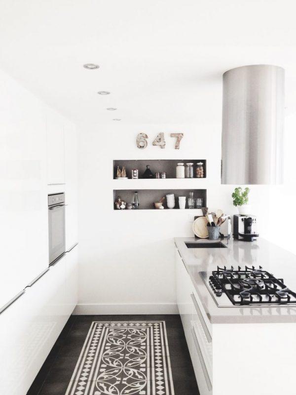 strook tegels keuken vloer