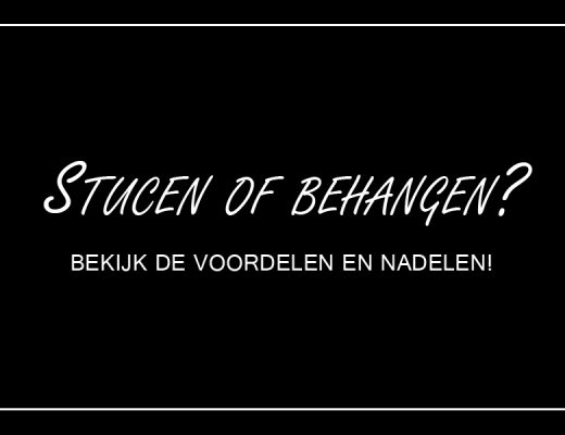 Stucen of behangen