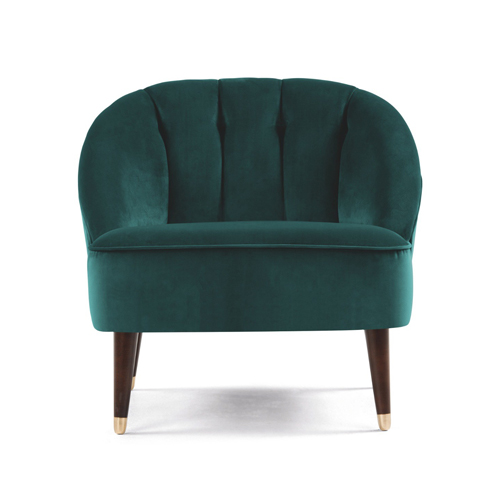 Teal fauteuil