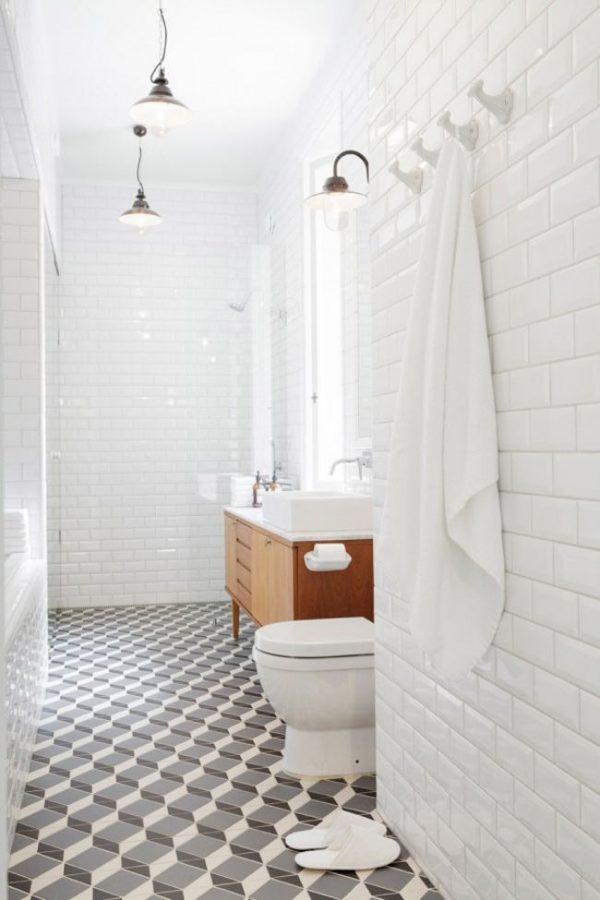 Tegels met patroon in de badkamer thestylebox - Tegel patroon badkamer ...