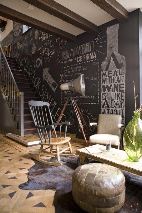 Krijtbord Achterwand Keuken : Chalkboard Wall Interior Design