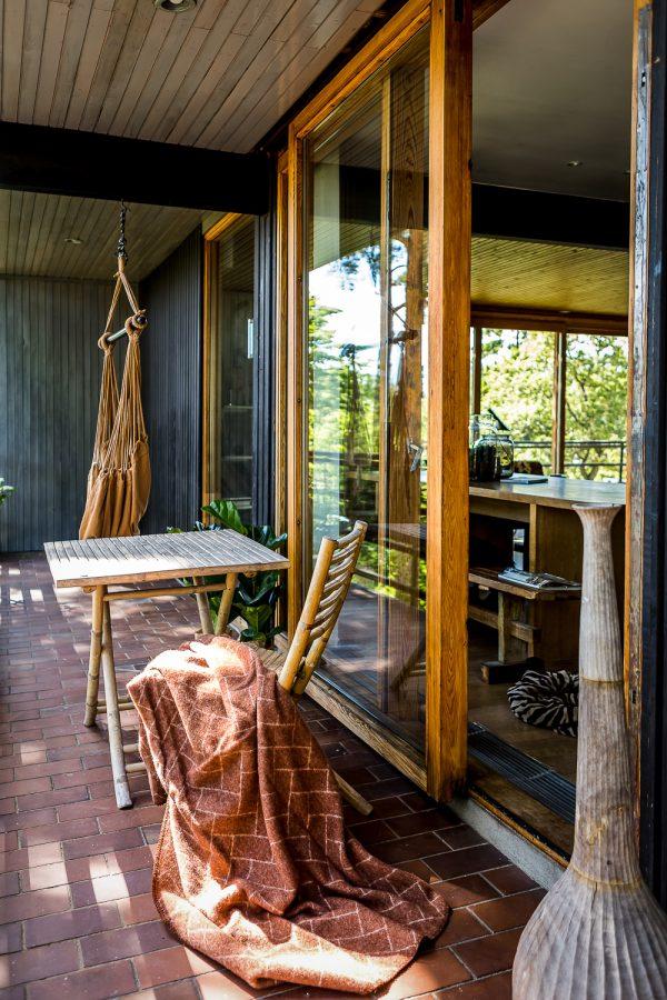 terras huis bos