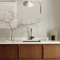 terrazzo keukenwerkblad houten keuken