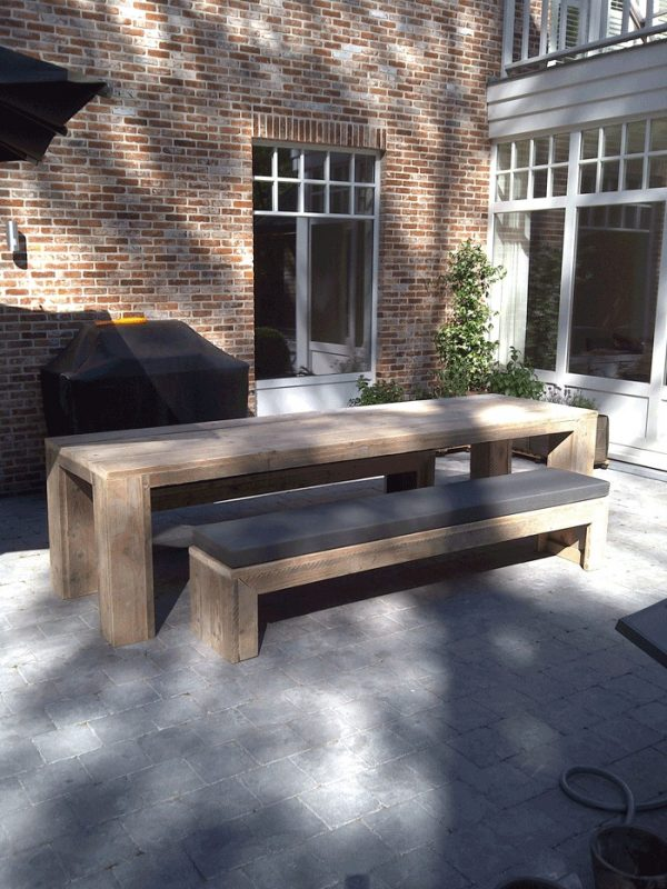 tuin bank hout