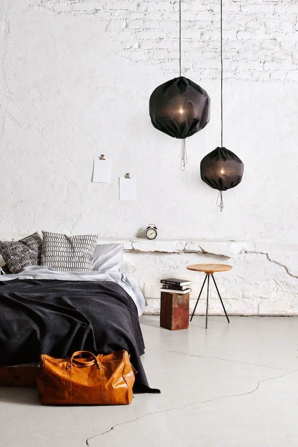 witte lamp katoenen lamp verlichting slaapkamer
