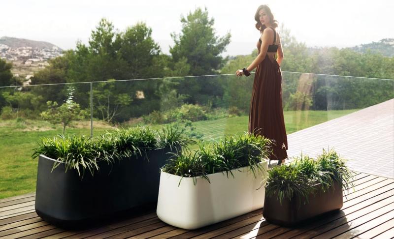 verrijdbare design plantenbak vondom verlichting
