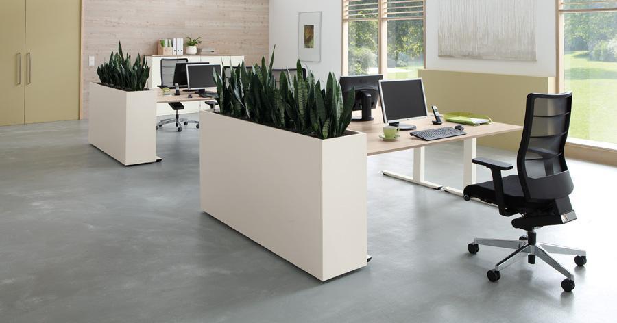 verrijdbare plantenbak kantoor