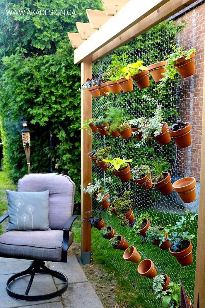 verticale tuin in de tuin