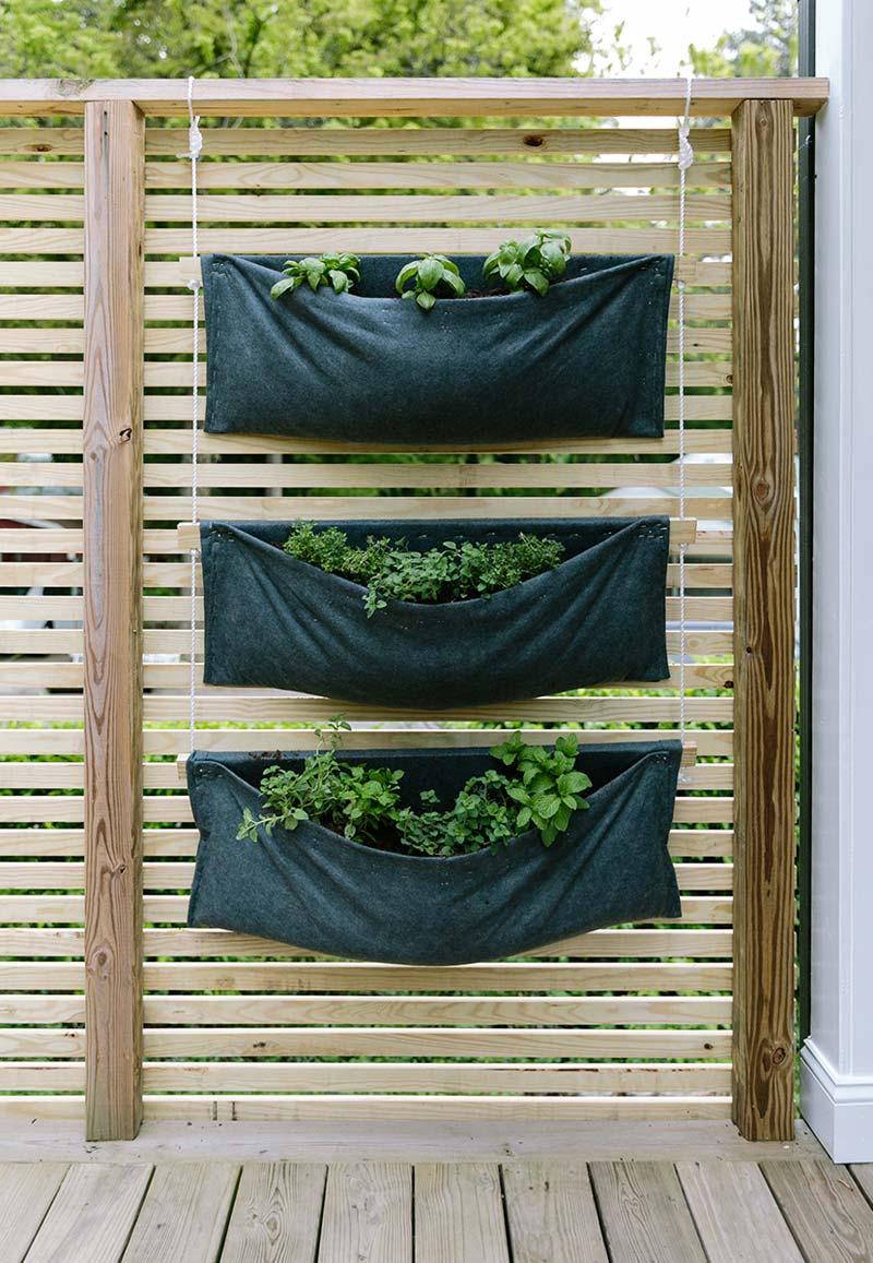 verticale tuin zakken vilt