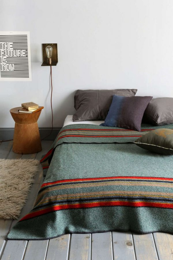 vintage plaid bed