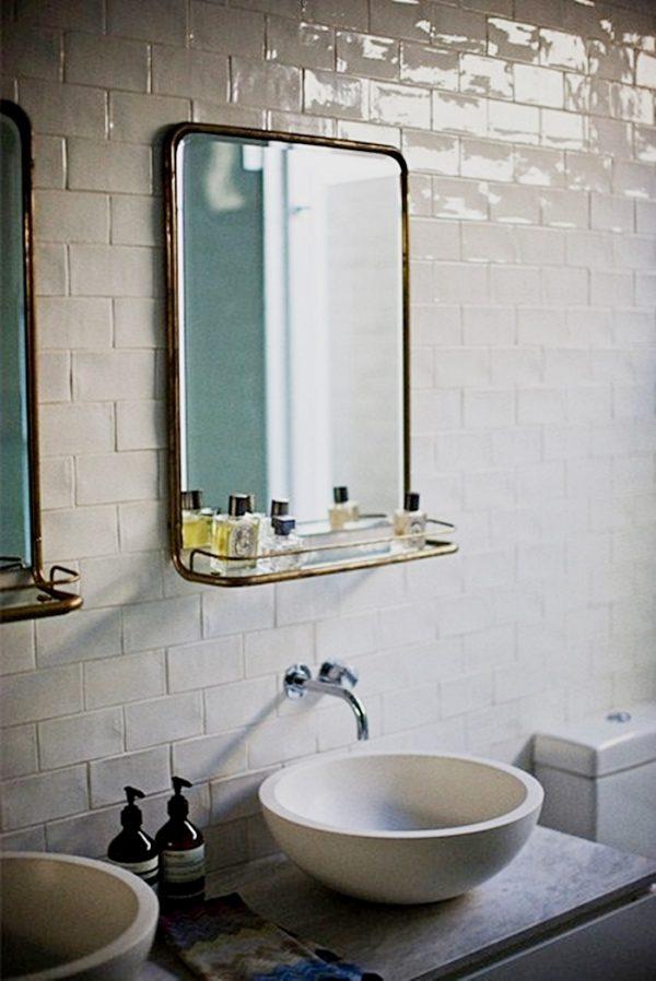 vintage spiegel badkamer