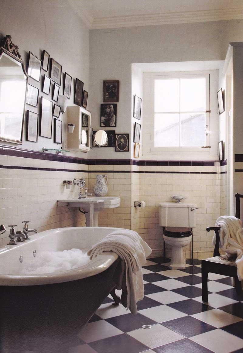 vintage spiegel collage badkamer