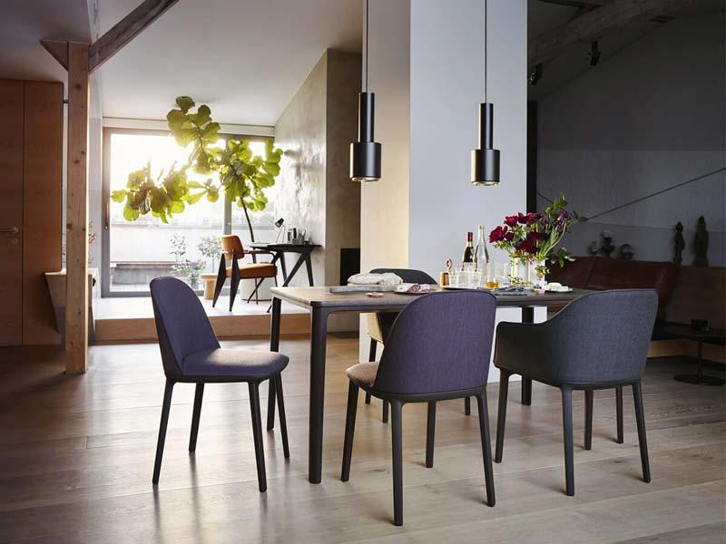 vitra softshell side stoel