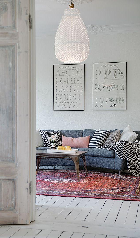 5x vloerkleed in de woonkamer - THESTYLEBOX