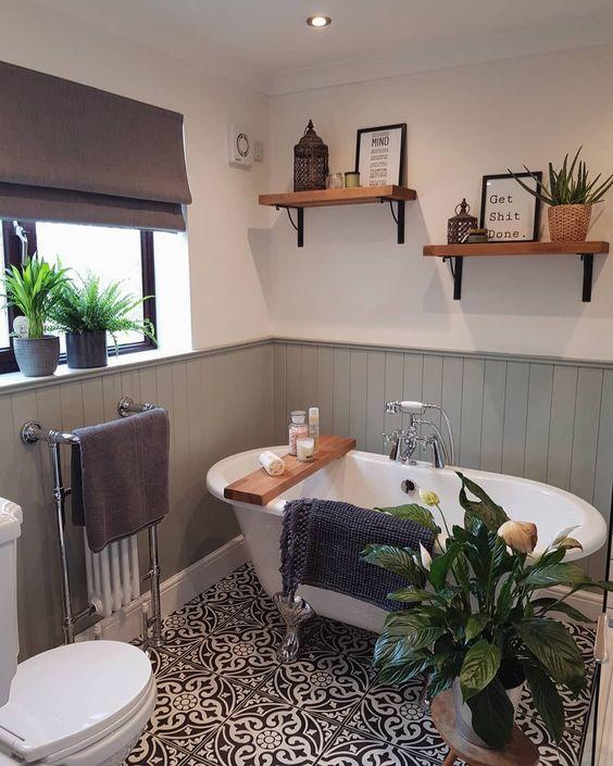 Vouwgordijnen badkamer