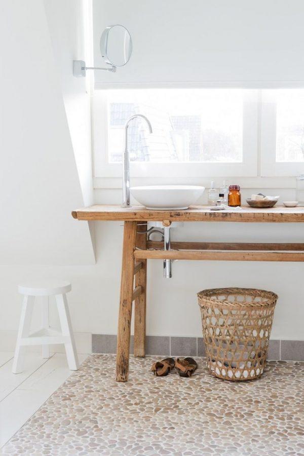 wasbak houten tafel