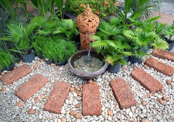 cortenstaal fontein