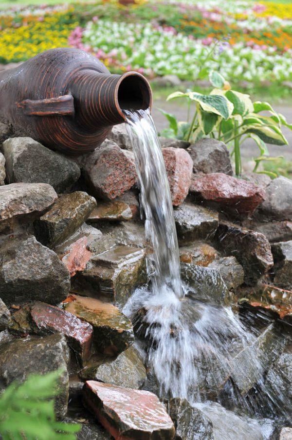 waterornament griekse vaas
