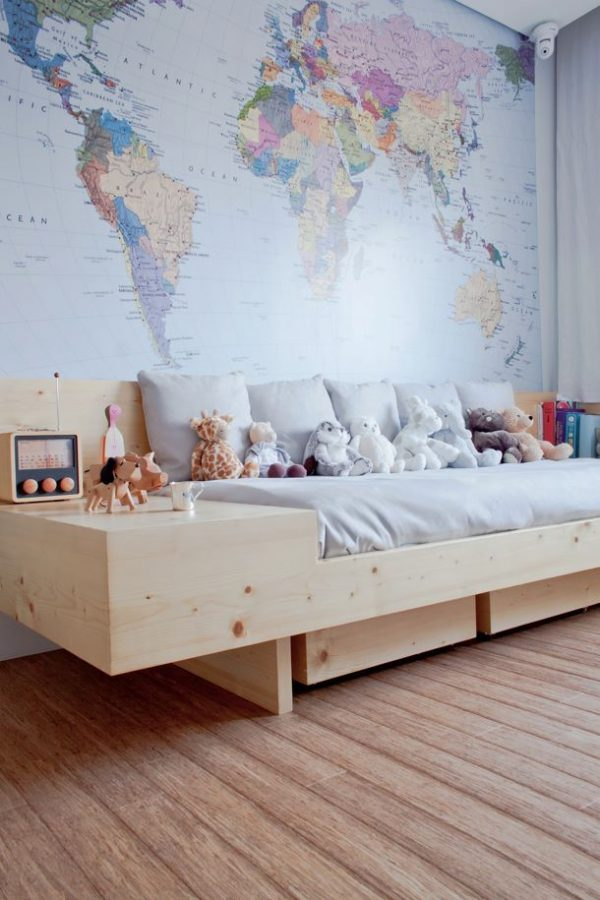 Super Wereldkaart in de kinderkamer - THESTYLEBOX QF48