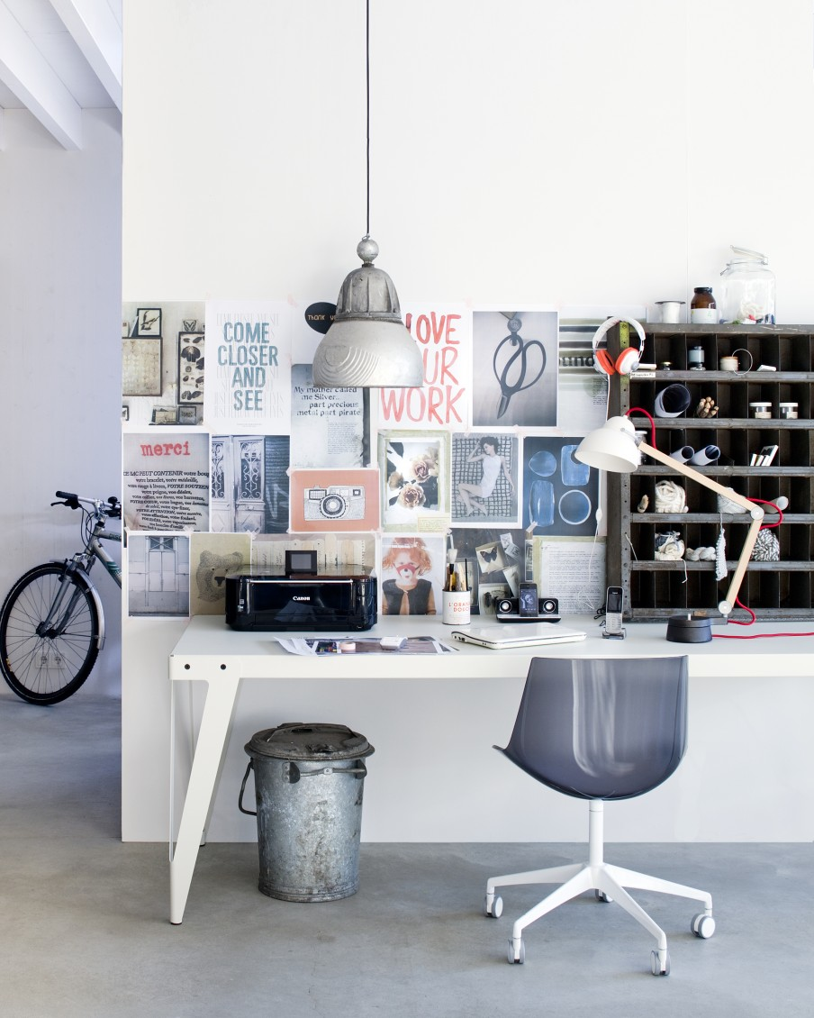 Home Decor Design Inspiration: Werkplek In De Woonkamer