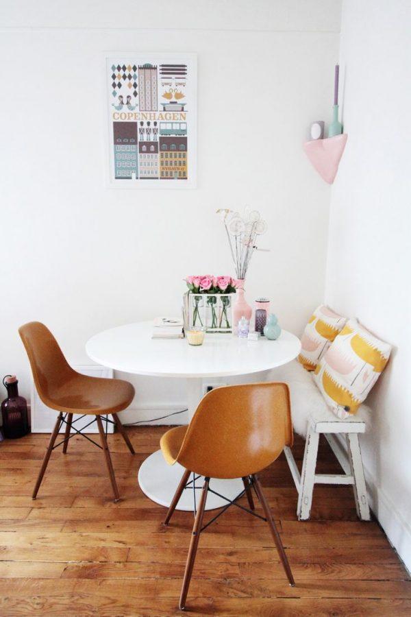wit bankje keukentafel