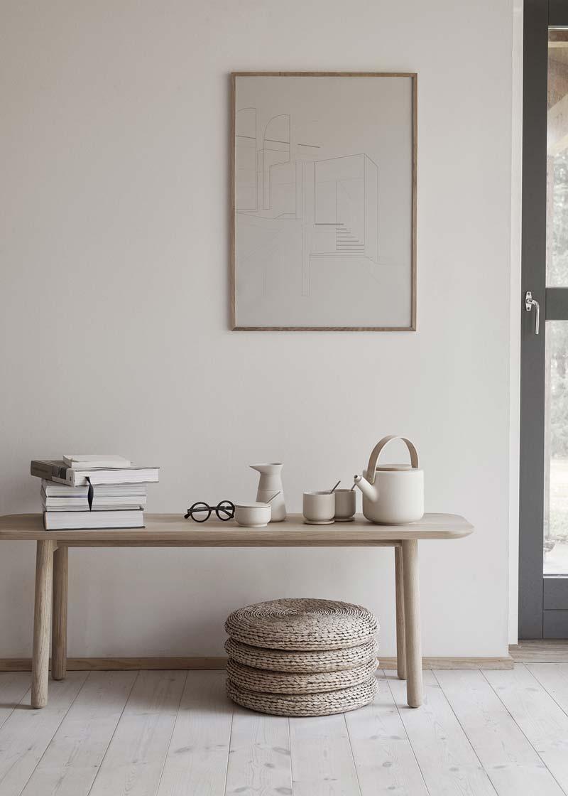 wit interieur houten accenten