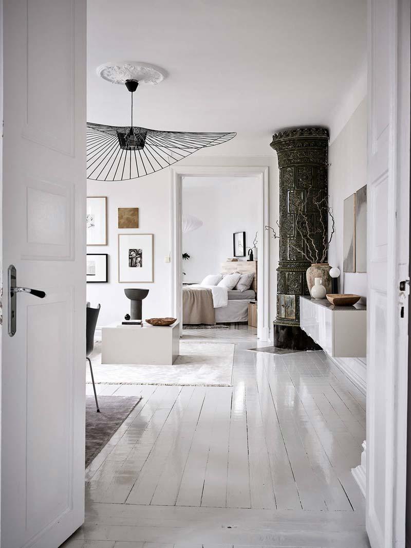 wit interieur witte vloer